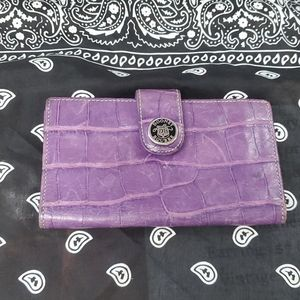 Vintage leather purple Dooney & Bourke wallet